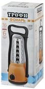 Фонарь для кемпинга Трофи TK30 36xLED Б0002592, аккумуляторный, 4В 1.8Ah, 36 диммируемых светодиодов, 86Лм, с зарядным устройством, зарядное устройство 220В, оранжевый