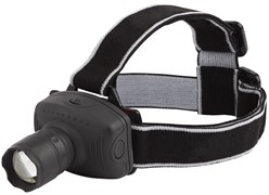 Фонарь налобный Трофи Трофи GB302 Б0036617, 3 элемента питания R03, 1 светодиод 3Вт, 50Лм, 3 режима, регулируемый фокус, черный