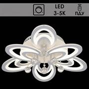 Люстра подвесная LED-встроенная 55012/3+3, диаметр 620мм, LED 2x78W, 3000-5000K, ПДУ диммер, WT белый, SDA19