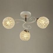 Люстра подвесная 3-рожковая N3203/3 QH18, 3х40W, E27, диаметр 470мм, высота 230мм, FG+WT белый/золото, crst