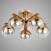 Люстра подвесная 5-рожковая 06309/5 GAN20, 5x40W, E27, диаметр 480мм, высота 240мм, FGD золото