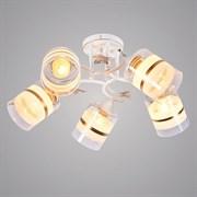 Люстра подвесная 5-рожковая DA5110/5, 5х60W, E27, диаметр 585мм, высота 240мм, HN20, WT+GD белый/золото