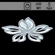 Люстра подвесная LED-встроенная 88765/5, LED 110W, 4000-6500k, диаметр 600мм, ПДУ, диммер, белый