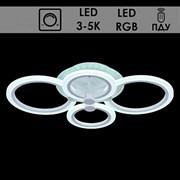Люстра подвесная LED-встроенная 10025/4, LED 72W+7W, 3000+5000k, длина 600мм, ПДУ, диммер, HN19, белый