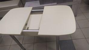 Стол обеденный Сатурн, раздвижной, 1340x690x740мм, с ящиком, ЛДСП 22мм, опора металлическая, ваниль