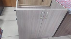 Тумба-мойка кухонная, 800x510x820мм,под мойку, ЛДСП, шимо светлый