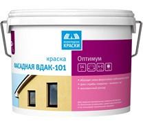 Краска Тэкс Оптимум ВДАК-101 акрилатная, для наружних/фасадных работ, белая, глубокоматовая, 14кг