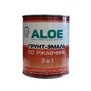 Грунт-эмаль по ржавчине ALOE 3в1, молотковая/по ржавчине, высокоглянцевая, серебристый, 0.8л