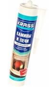 Герметик KRASS, для каминов и печей, силикатный, огнестойкий (+1250 градус), черный, 300мл