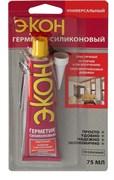 Герметик ЭКОН, силиконовый, универсальный, прозрачный, 75мл