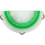 Светильник настенно-потолочный Дюна 2251 Орхидея, 1х60W, E27, полукруглый, зеленый/хром