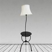 Торшер со столиком 9054, 1x40W, E27, высота 1600мм, белый/белый абажур текстиль