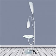 Торшер со столиком 8821 BTH17, 2x40W, E27, высота 1780мм, белый/белый плафон пластик