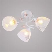 Люстра подвесная 3-рожковая DA5008B/3, 3х60W, E27, диаметр 530мм, высота 230мм, WT+GD белый/золото, HN20