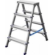 Лестница-стремянка СИБИН 38825-04, 4 ступени, рабочая высота 3м, двухсторонняя, алюминиевая