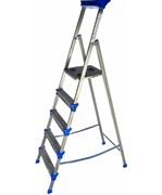 Лестница-стремянка NIKA СМ5, 5 ступеней, рабочая высота 3.265м, стальная, с широкими ступенями