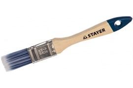 Кисть плоская STAYER STAYER AQUA-STANDARD 01032-025, 25мм, искусственная щетина, деревянная ручка