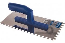 Гладилка зубчатая ЗУБР 0804-08, 130x280мм, зубья 8x8мм, полотно нержавеющая сталь, пластиковая ручка