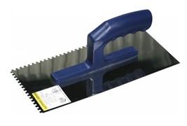 Гладилка зубчатая ЗУБР 0804-06, 130x280мм, зубья 6x6мм, полотно нержавеющая сталь, пластиковая ручка