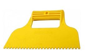 Шпатель зубчатый STAYER 1022-6, 230мм, зубья 6х6мм, пластиковый