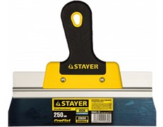 Шпатель STAYER Профи 10045-25, 250мм, фасадный, анодированный, двухкомпонентная ручка