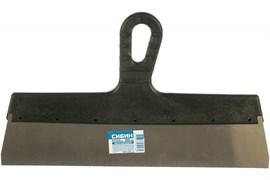Шпатель СИБИН 10079-350, 350мм, полотно нержавеющая сталь, пластиковая ручка