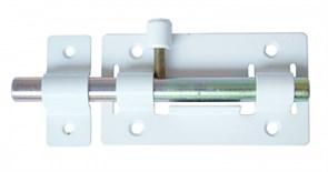 Задвижка/засов дверная ЗД-01 Секрет, 115x64мм, круглый ригель, белый
