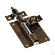 Задвижка/засов дверная ЗД-12 Секрет, 120x75мм, с проушиной, бронза