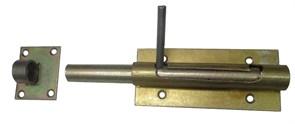 Засов гаражный, диаметр 20мм, с ответной планкой, накладной, сталь