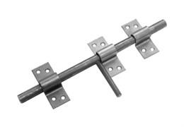 Засов дверной ЗУ-250 Домарт, универсальный, без планки, с накладкой, сталь