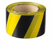 Лента сигнальная Зубр Мастер, 75ммx200м, черно-желтая