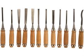 Стамески STAYER ПРОФИ 1835-Н12, фигурные, деревянная ручка, набор 12 предметов