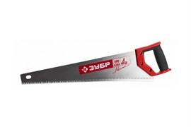 Ножовка Зубр МАСТЕР МОЛНИЯ по дереву 500мм, крупный зуб, шаг зуба 6мм, двухкомпнентная ручка