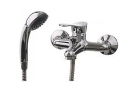 Смеситель для ванны LEDEME L3014, короткий излив, дивертор в корпусе, латунь