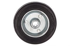 Колесо ЗУБР Профессионал, диаметр 100мм, грузоподъемность 70кг, резина/металл, игольчатый подшипник