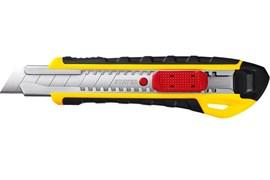 Нож с автостопом STAYER PROFI KS-18A, с выдвижным сегментированным лезвием, 18мм