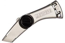 Нож металлический STAYER MASTER, с трапецевидным лезвием, 19мм