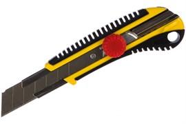 Нож с винтовым фиксатором STAYER HERCULES-25, с сегментированным лезвием, 25мм