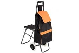 Сумка-тележка со стульчиком Рыжий кот C201 93580, 56x37x92см, г/п 25кг, колесо 160мм пластик, 3 кармана