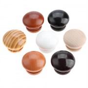 Ручка-кнопка мебельная РК 3461/2 WD1002, диаметр 30мм, дерево, темно-коричневая