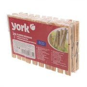 Прищепки бельевые York 96050 Эко, деревянные, набор 20шт