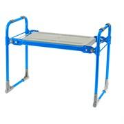 Скамейка-перевертыш садовая складная Nika 64555, 546x298x420мм, 2 рабочие стороны, максимальная нагрузка 100кг, каркас металл, сиденье пластик, голубая