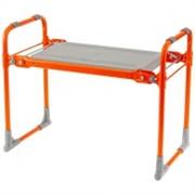 Скамейка-перевертыш садовая складная Nika 64555, 546x298x420мм, 2 рабочие стороны, максимальная нагрузка 100кг, каркас металл, сиденье пластик, оранжевая