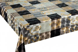 Клеенка столовая TANGO SG8548-С-S066, 3D, 140см, ПВХ на тканевой основе, металлик