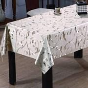 Клеенка столовая TANGO 297-035, 3D, 140см, ПВХ на тканевой основе, металлик