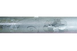 Клеенка столовая TANGO 283-001, 3D, 140см, ПВХ на тканевой основе, металлик