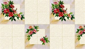 Клеенка столовая Колорит 710-1, 130см, ПВХ на флизелине, декоративная