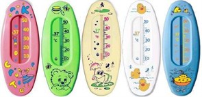 Термометр водный Малыш В1, 150x60мм, шкала +10...+50 градус, пластик, микс