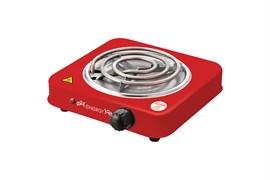 Плитка электрическая одноконфорочная ENERGY EN-902R 158974, спираль (ТЭН), 1кВт, красная