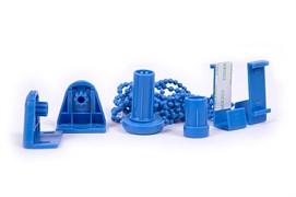 Фурнитура для штор рулонных/ролет, круглая, диаметр 16мм, синий, упаковка